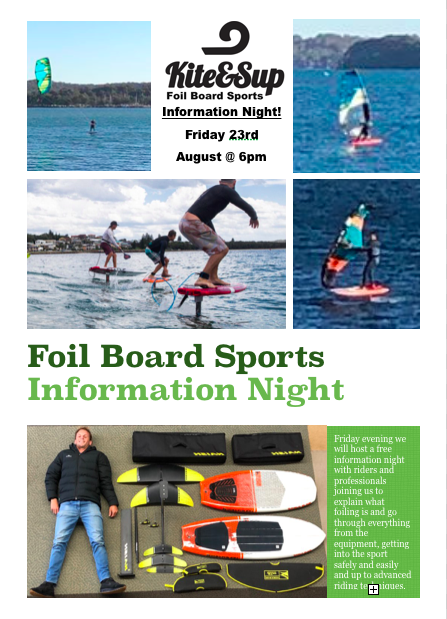 Foil Board Sports Information Night